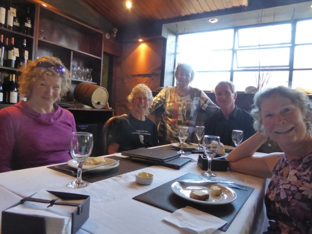 This is part of our dinner group at Isabel's