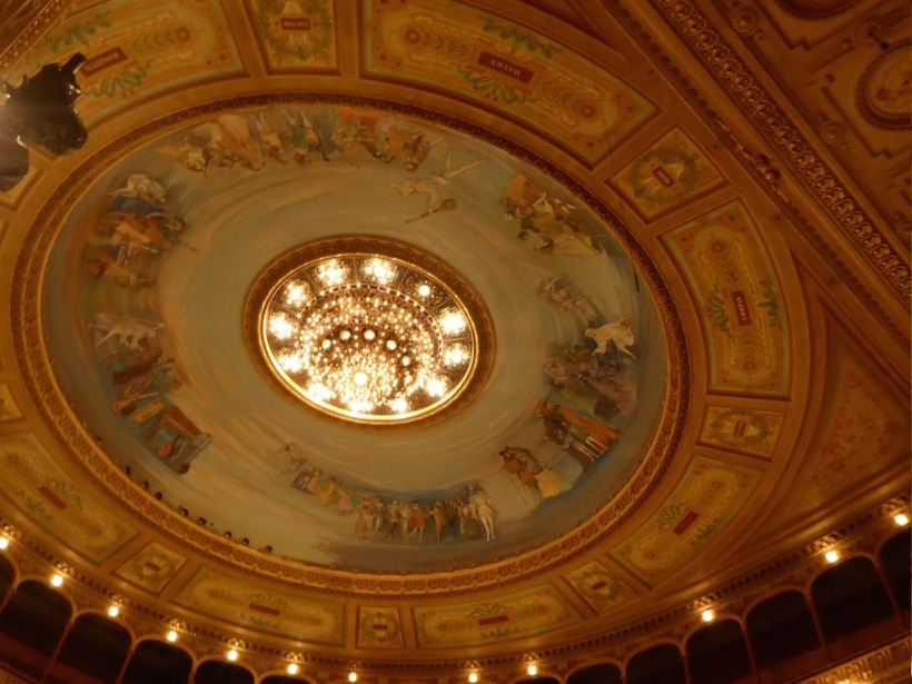 This is the dome at Teatro del Colón