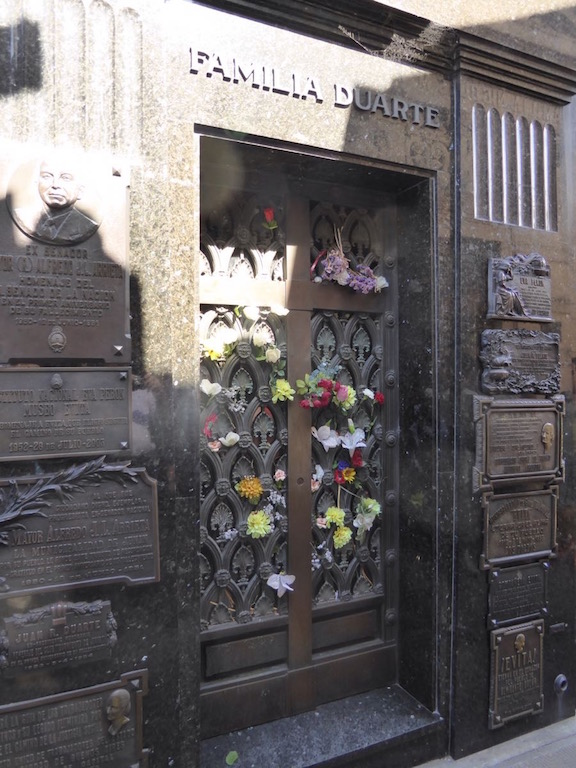This is where Eva Perón is buried.