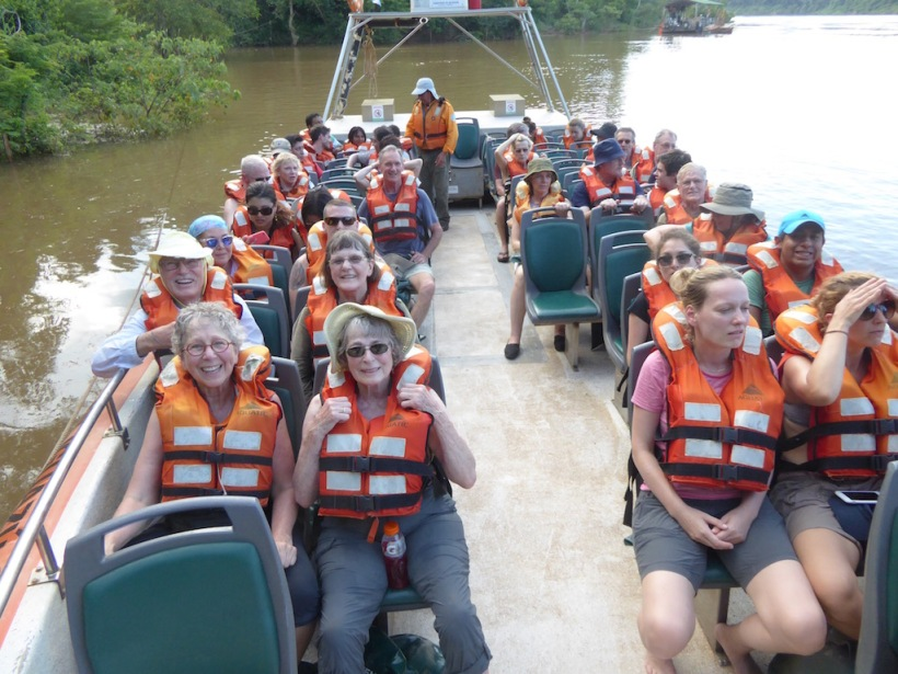 This is our boat of people on the Great Adventure.