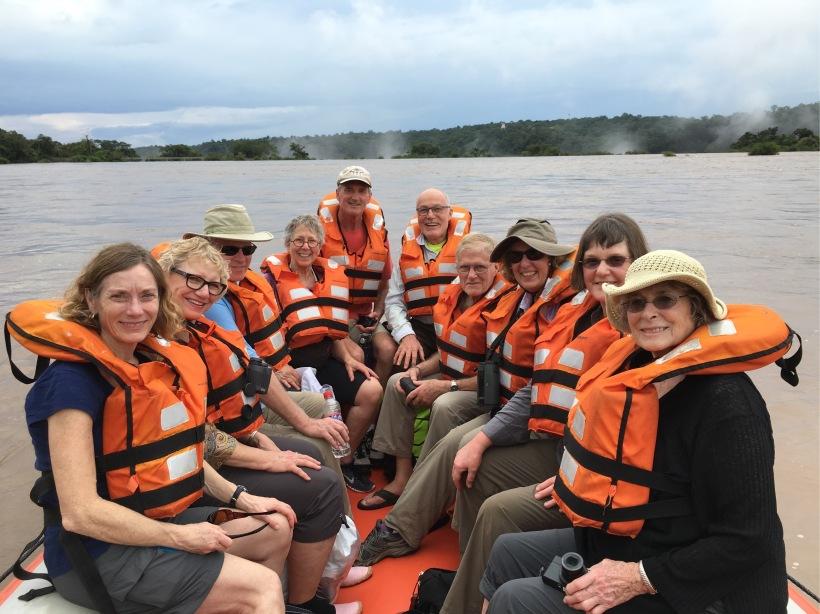 We took a raft trip down the river at Iguazú Falls.