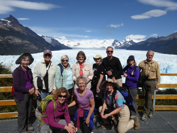 This is a group photo of us at Perito Moreno.