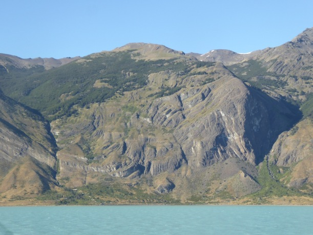 This is a view of the hillside off Lake Antarctica.