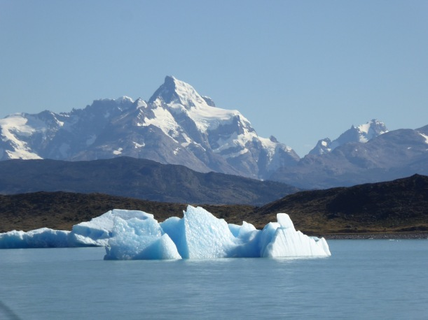 The ice is floating in Lake Argentina.