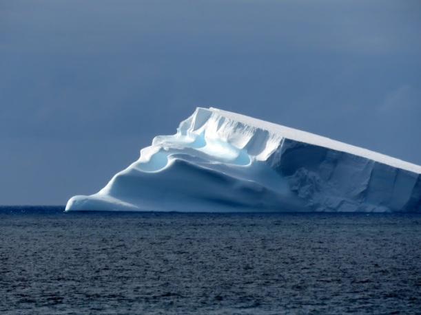 An Iceberg seen traveling to Antarctica.