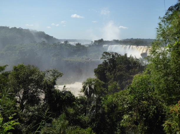 A view of Iguazú Falls
