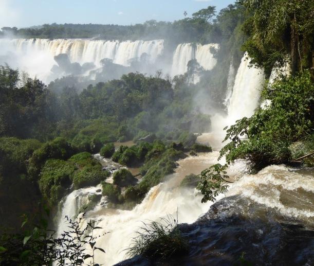 I love this view of Iguazú Falls.
