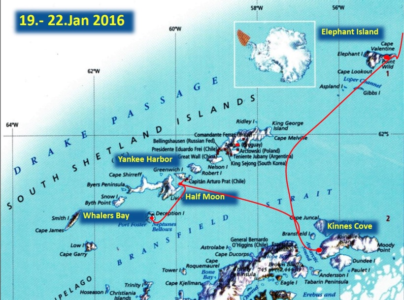 This is a map of where we landed in Antarctica.