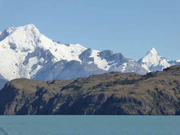 This is aview of a mountain from Lake Antarctica.