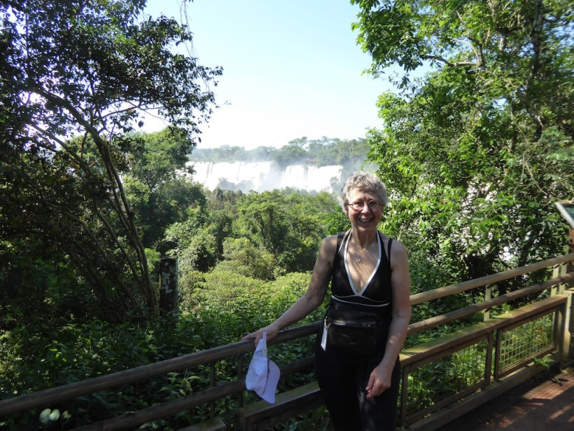 This is Nancy at Iguazú Falls.