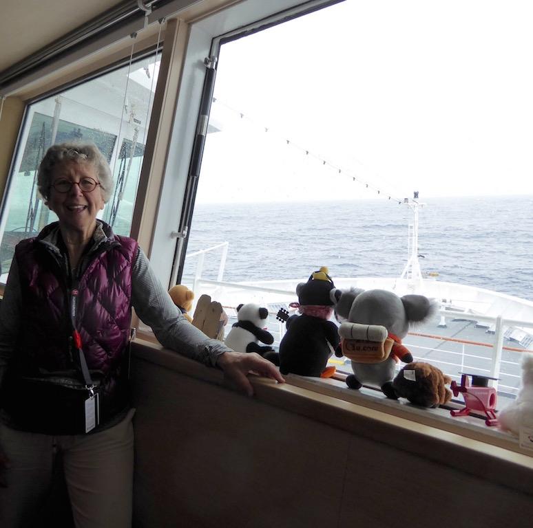 Nancy is on the bridge of the FRAM