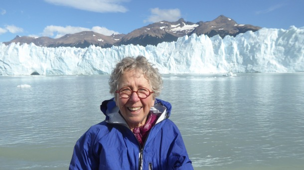 This is a view Perito Moreno and me from the catamaran.