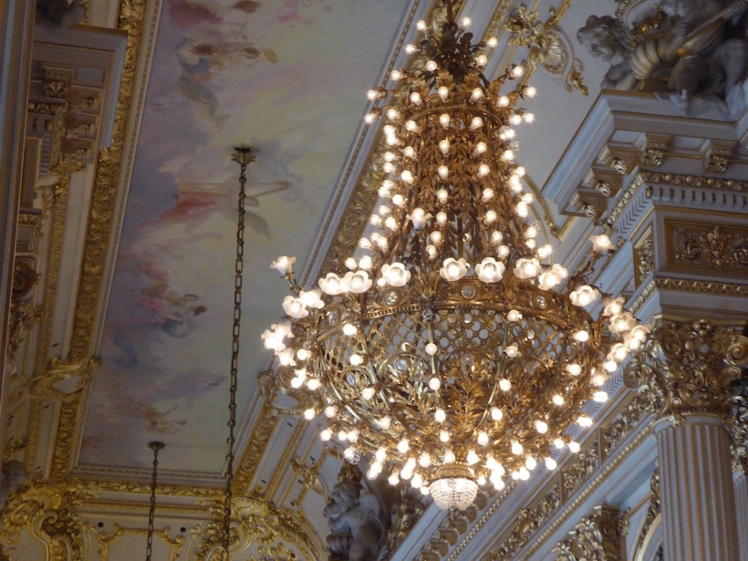 This is a close-up of one chandelier.