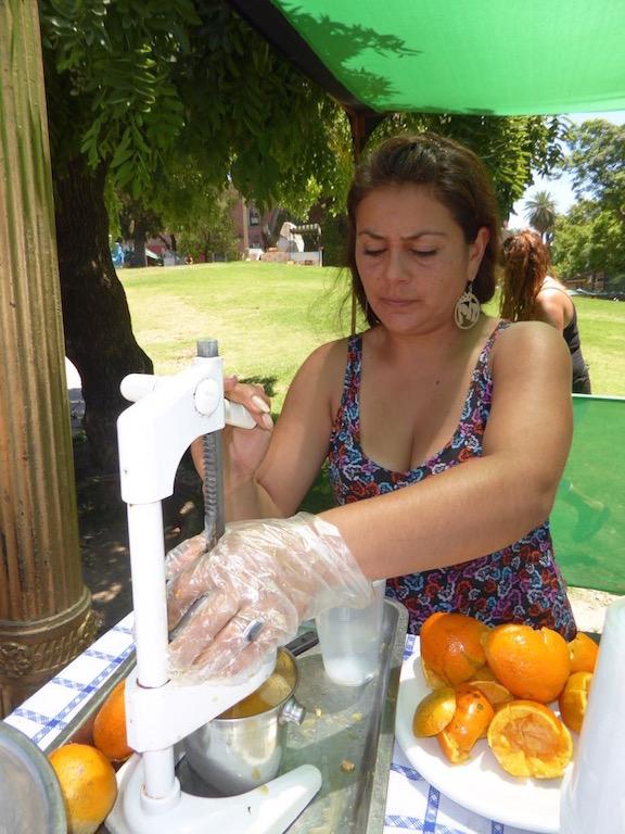I had fresh Orange Juice at the Ricoleta Market.