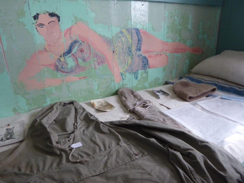 Painting on wall of bunk at Port Lockroy