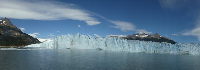 This is a panorama of the south side of Perito Moreno Glacier