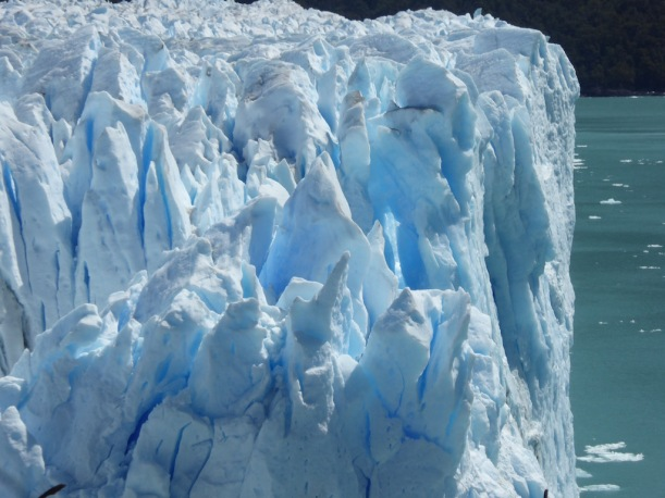 This ice from the Perito Moreno Glacier is so beautiful.