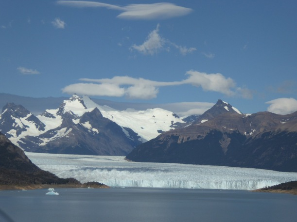 This is a view of Perito Moreno Glacier from our car.