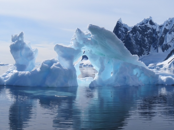 This is a beautiful glacier in Lake Argentina.