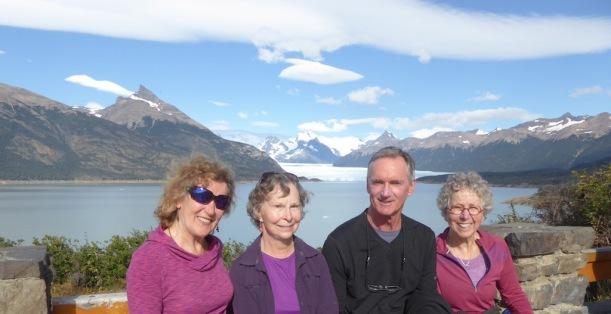 Rita, Pat, Andy, Nancy - Perito Moreno Glacier