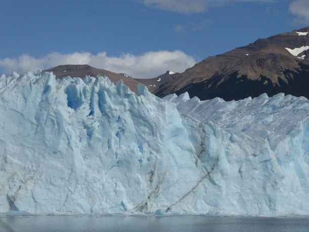 This is a close up of the south side of Perito Moreno Glacier.