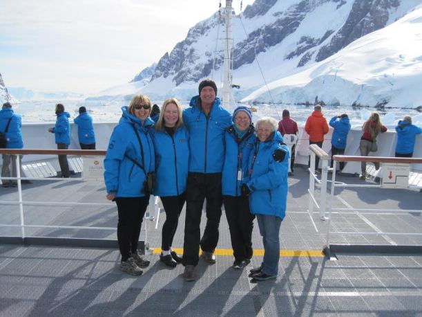 Friends on the deck of the FRAM in the Lemaire Channel.