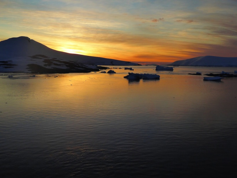 What a beautiful Sunset in Antarctica.