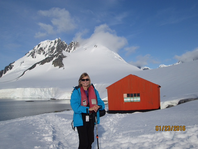 This red hut is at the top of Damoy Point.