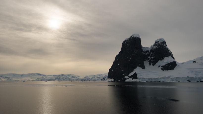 Two beautiful peaks in Antarctica
