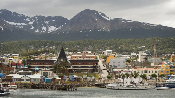 This is the town of Ushuaia.