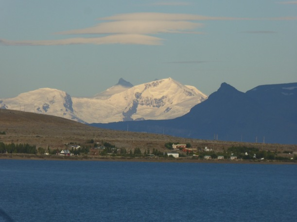 This is the view from Las Dunas Hotel in el Calafate.