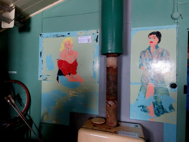 These are paintings on the walls of Port Lockroy.