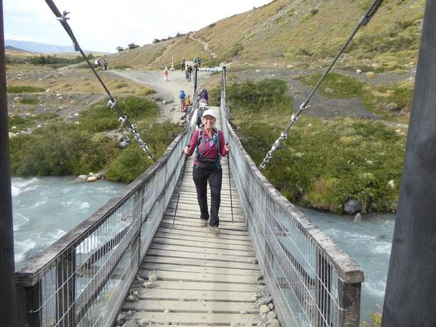 I am crossing the bridge.