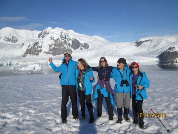 They are near Grey Glacier