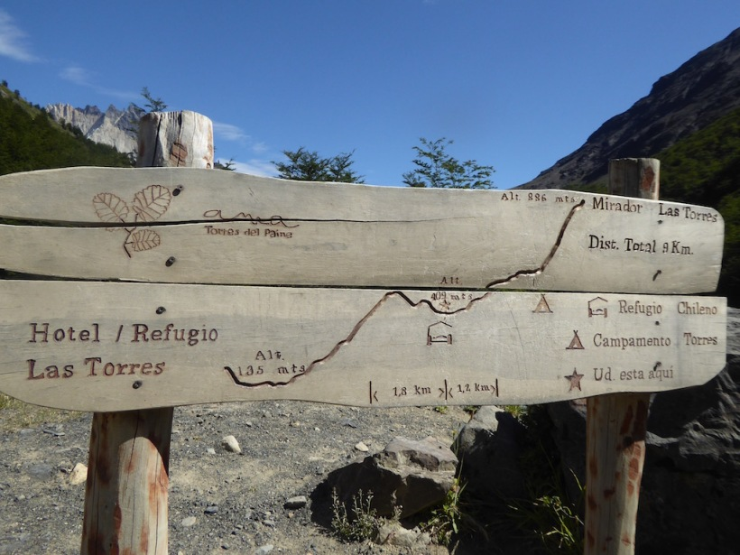 This is a wooden map of the trail.