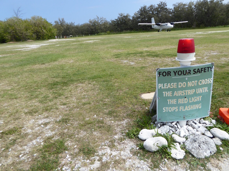 This s warning on the airstrip.