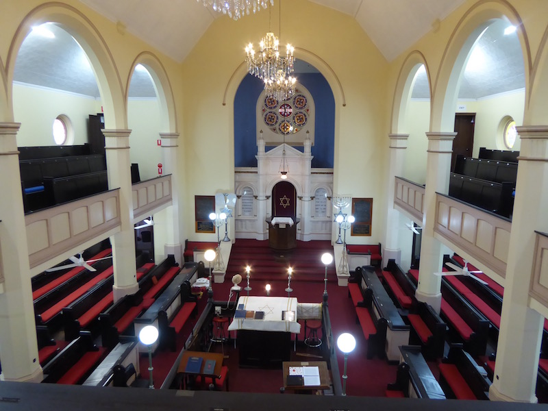 This is the inside of Brisbane Synagogue.