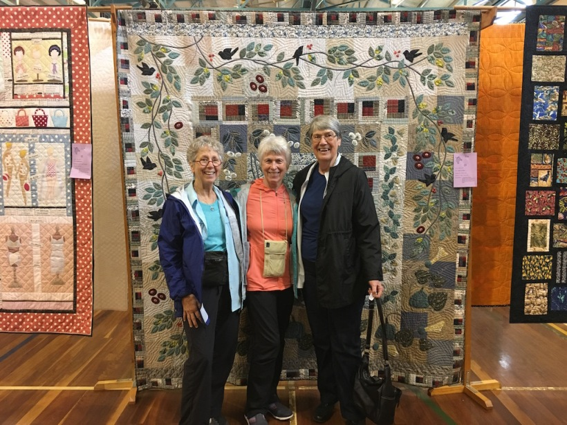 Friends at the quilt show.