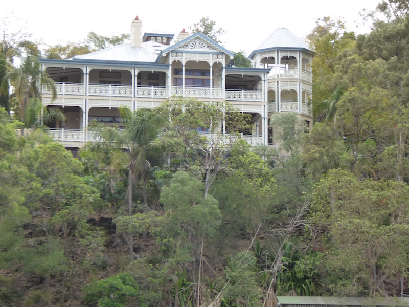 This is a home along the Brisbane River.