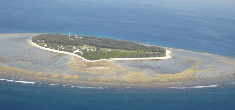 This is Lady Elliot Island from the plane.