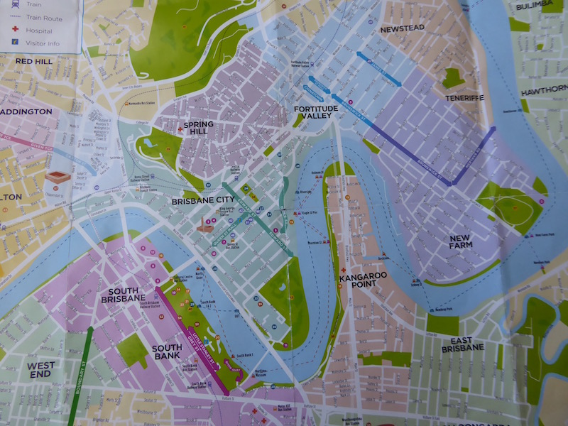 This is a map of part of the Brisbane River