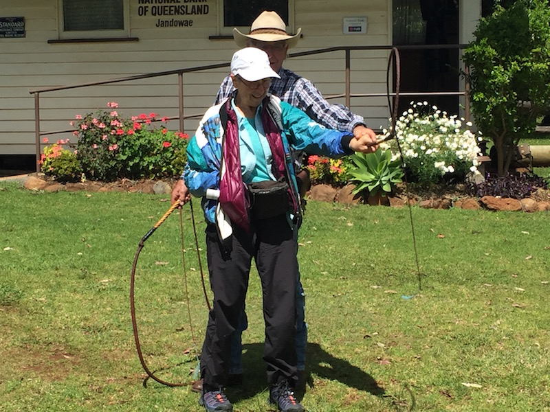 I tried cracking a bullwhip.