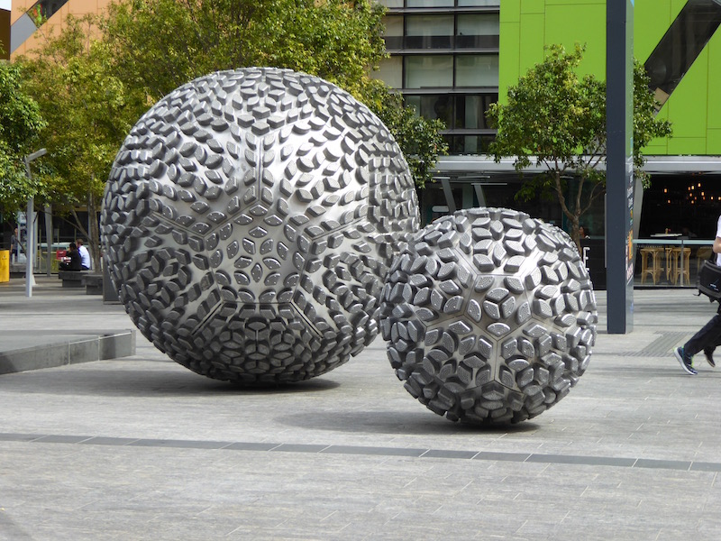 These are sculptures in Brisbane.