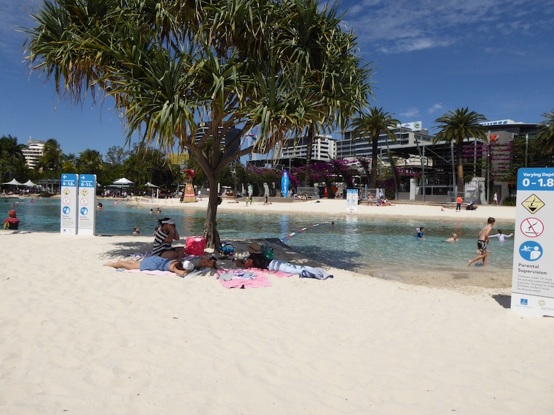 This is Street Beach in Brisbane.