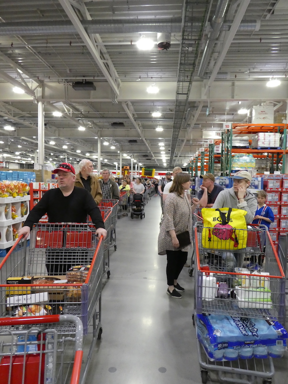 The lines were so long at Costco